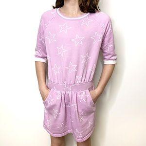 GYMBOREE Purple Stars Sweatshirt Dress Pockets M